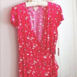 Gorgeous Pink Wrap Tie Dress
